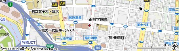 東京都千代田区神田錦町3丁目周辺の地図