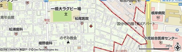 東京都国立市東3丁目周辺の地図
