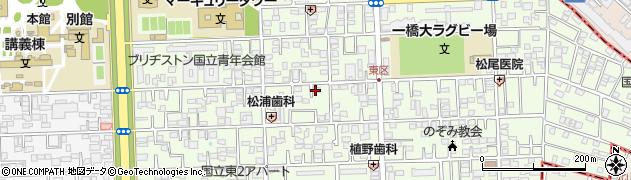 東京都国立市東周辺の地図