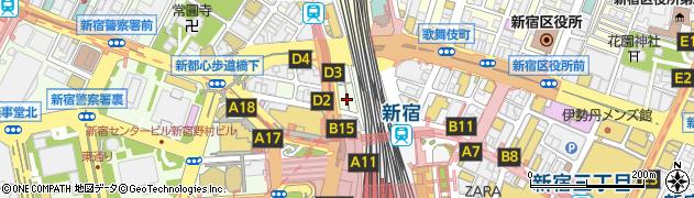 東京都新宿区西新宿1丁目2-7周辺の地図