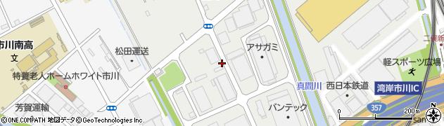 千葉県市川市原木周辺の地図