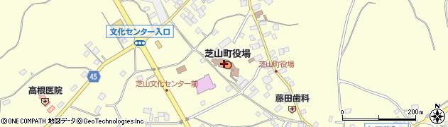 千葉県山武郡芝山町周辺の地図