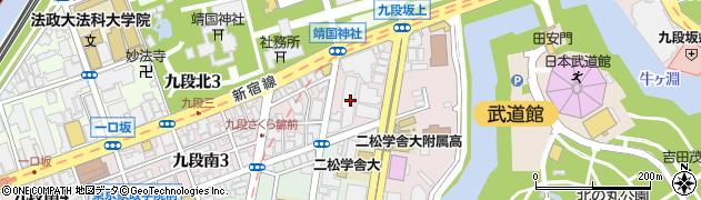 東京都千代田区九段南2丁目3-14周辺の地図