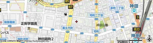 東京都千代田区神田美土代町周辺の地図