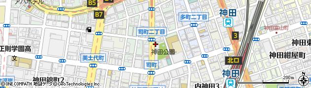 東京都千代田区神田司町周辺の地図