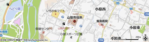 山梨県山梨市周辺の地図