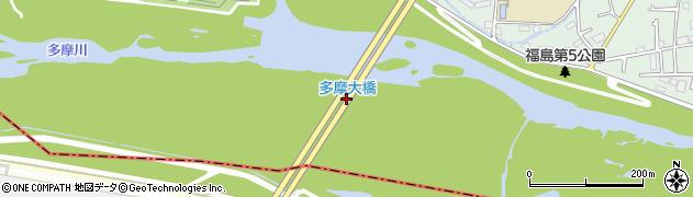 八王子武蔵村山線周辺の地図
