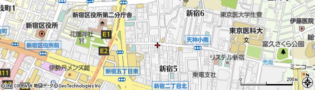 東京都新宿区新宿周辺の地図