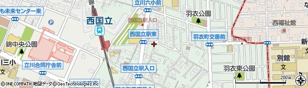 東京都立川市羽衣町周辺の地図