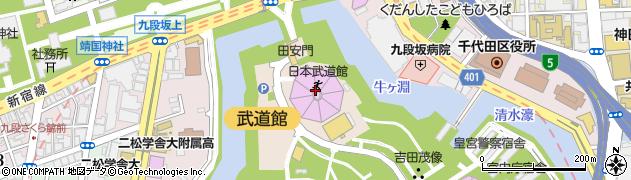 東京都千代田区北の丸公園周辺の地図