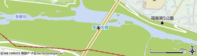 多摩大橋周辺の地図