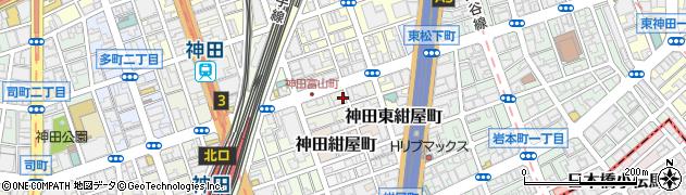 東京都千代田区神田富山町周辺の地図