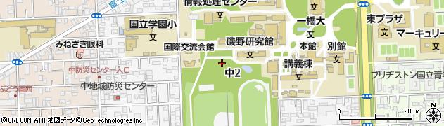 東京都国立市中周辺の地図