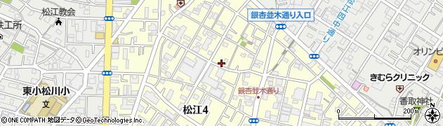 東京都江戸川区松江周辺の地図