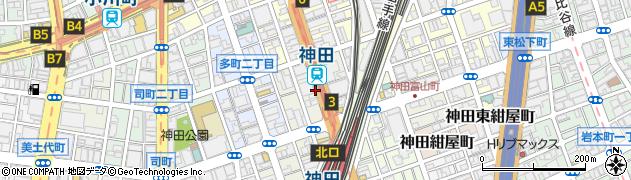 東京都千代田区神田鍛冶町周辺の地図