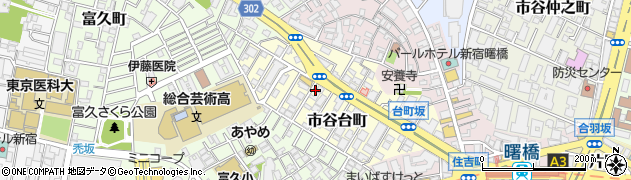東京都新宿区市谷台町周辺の地図