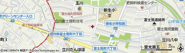都公社富士見町住宅周辺の地図