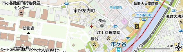 東京都新宿区市谷左内町周辺の地図