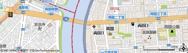 両国グレースマンション周辺の地図