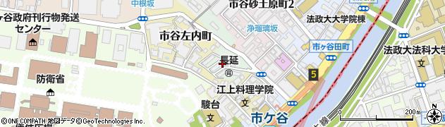 東京都新宿区市谷長延寺町周辺の地図