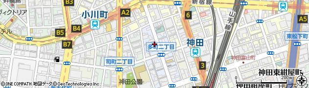 東京都千代田区神田多町周辺の地図