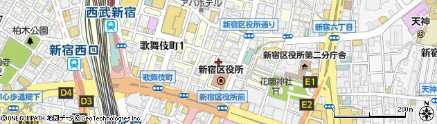 いわもとQ 歌舞伎町店周辺の地図
