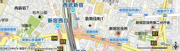 カリーナ 新宿店周辺の地図