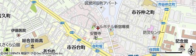 東京都新宿区住吉町周辺の地図