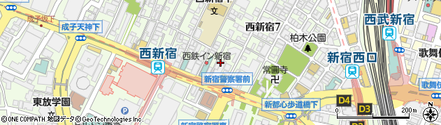 東京都新宿区西新宿7丁目周辺の地図