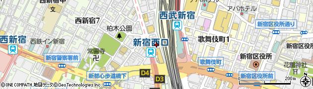 東京都新宿区西新宿7丁目1-7周辺の地図