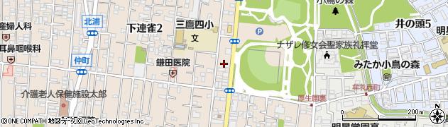 東京都三鷹市下連雀1丁目12周辺の地図