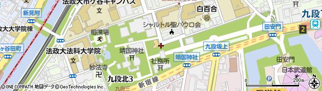 東京都千代田区九段北周辺の地図