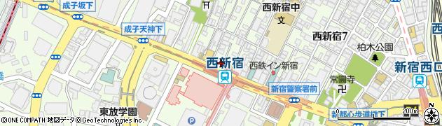 新宿加藤整骨院周辺の地図
