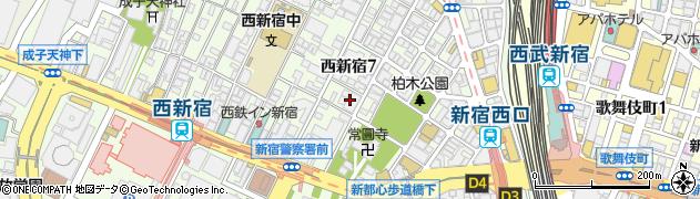 東京都新宿区西新宿7丁目19-22周辺の地図