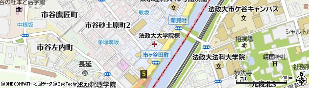 東京都新宿区市谷田町周辺の地図