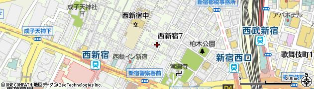 キャッスルマンション西新宿周辺の地図