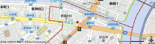 東京都中央区日本橋馬喰町周辺の地図