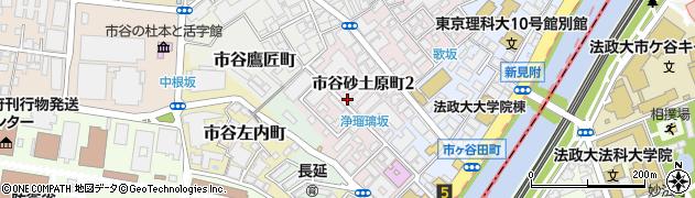 東京都新宿区市谷砂土原町周辺の地図