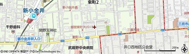 都営東町二丁目アパート周辺の地図