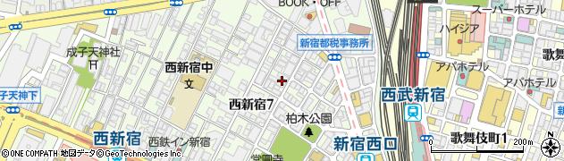 東京都新宿区西新宿7丁目18-18周辺の地図