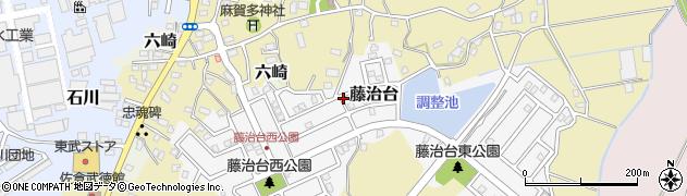 千葉県佐倉市藤治台周辺の地図