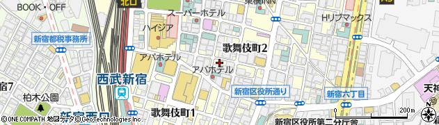 東京都新宿区歌舞伎町周辺の地図