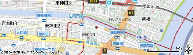 東京都中央区日本橋馬喰町2丁目周辺の地図