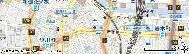 東京都千代田区神田須田町周辺の地図