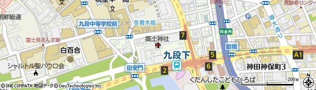 築士神社周辺の地図