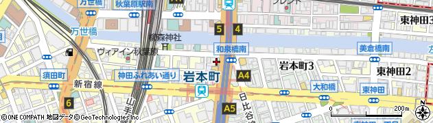 東京都千代田区神田岩本町周辺の地図