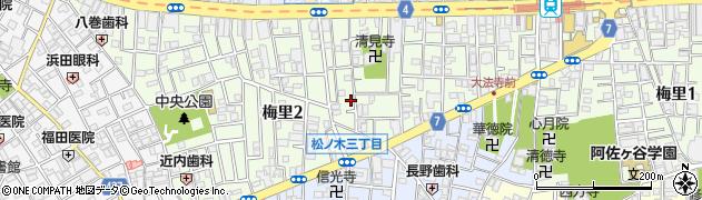東京都杉並区梅里周辺の地図