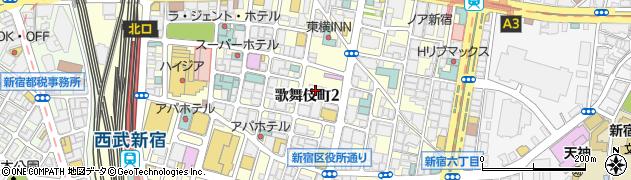 焼肉キッチンスタジアム 黒5 歌舞伎町店周辺の地図