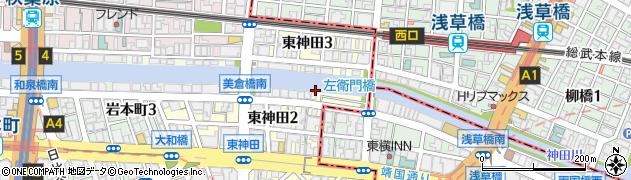 東京都千代田区東神田周辺の地図