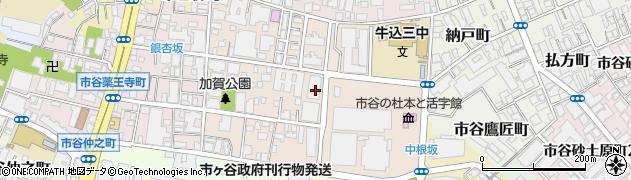 東京都新宿区市谷加賀町周辺の地図